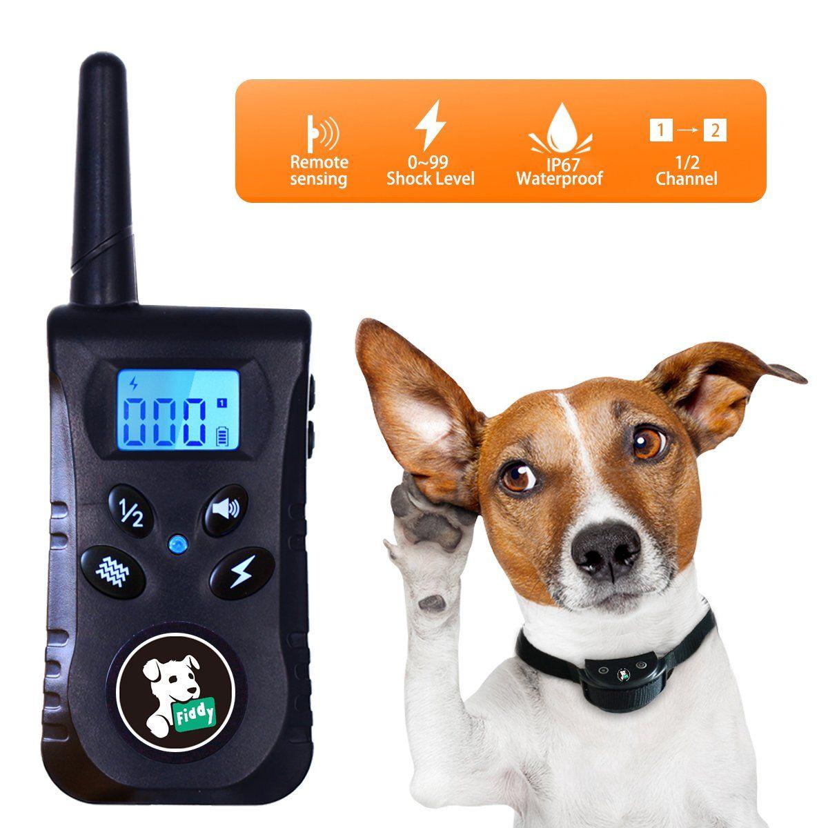 Fiddy Dog Shock Collar Training Waterproof Bark Collar 550 Yard
