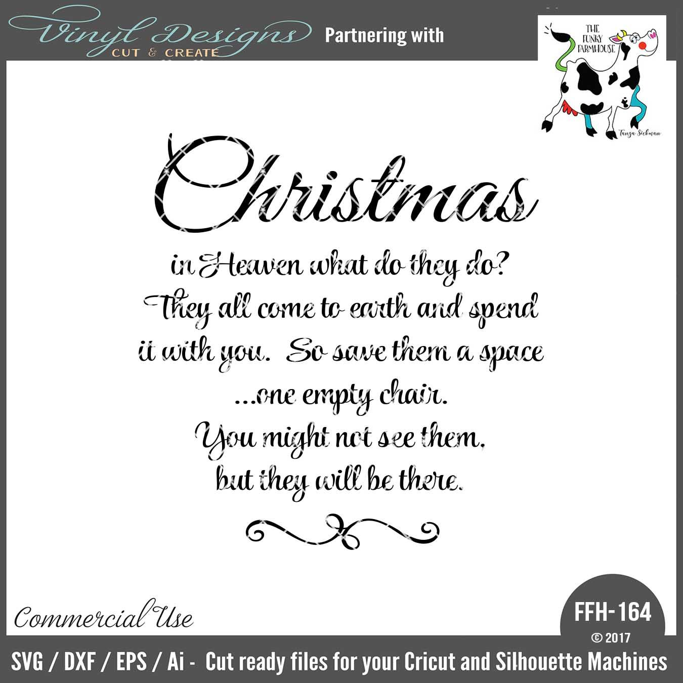 Christmas In Heaven Poem Svg.Ffh164 Christmas In Heaven Poem Cricut Machine Christmas