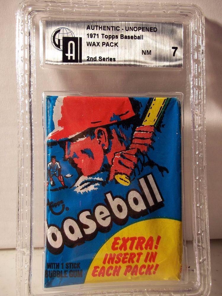1971 topps baseball wax pack gai nm 7 mlb collectible
