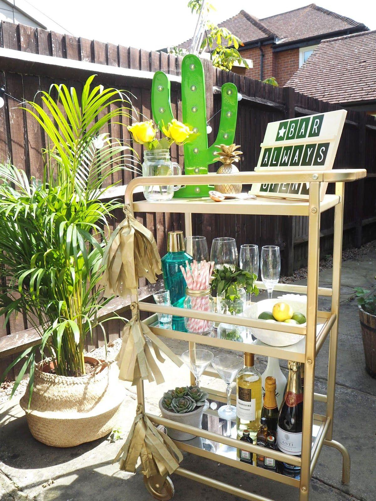 Ikea bar cart, DIY, cocktails, home