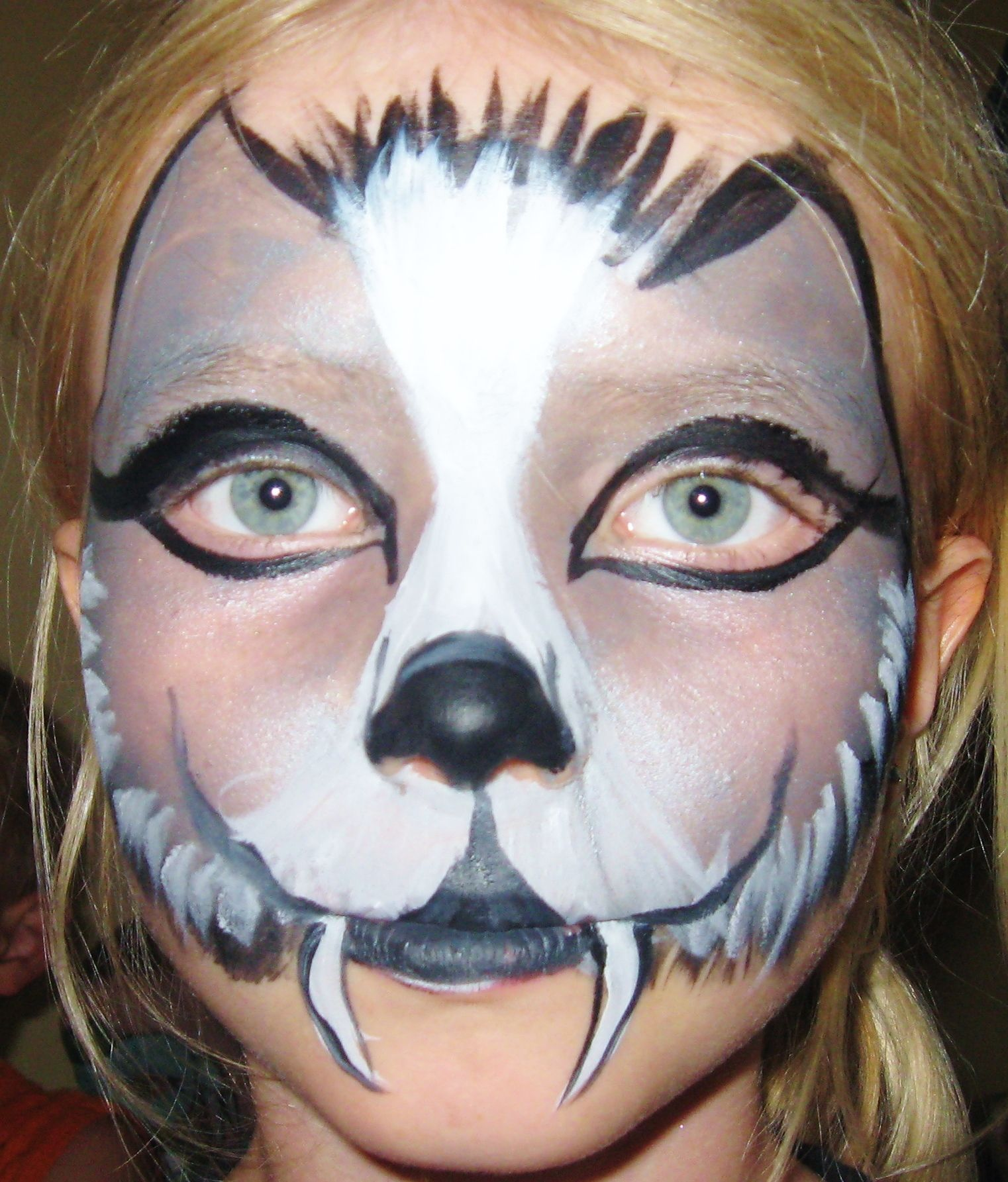Kinderschminken Wolf Quick Wolf Face Paint Kinderschminken Maquillages
