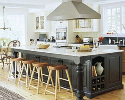 Large kitchen island with seating and storage kitchens for Large kitchen island ideas with seating