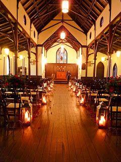 Floor Lanterns Can Effectively Brighten A Dark Chapel Interior All Saints Chapel Raleigh Wedding Venues Church Nc Wedding Venue Shabby Chic Wedding Signs