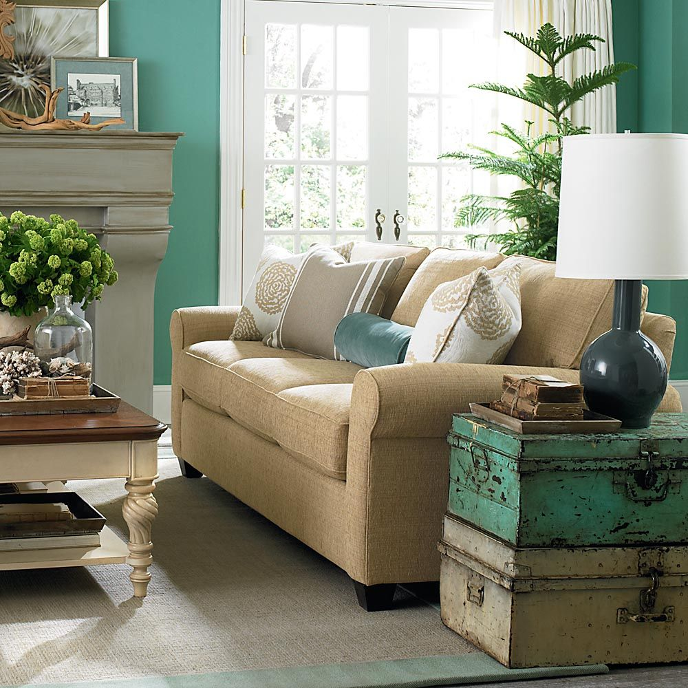 inspirational decor idea two different colored chests used atop one rh pinterest com