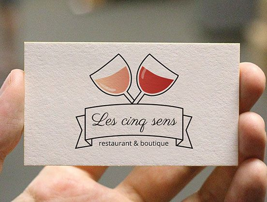 French restaurant business cards business cards pinterest french restaurant business cards reheart Images