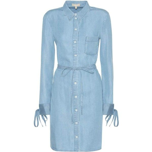 ee75e43462 Michael Kors Collection Chambray Shirt Dress ( 335) ❤ liked on Polyvore  featuring dresses