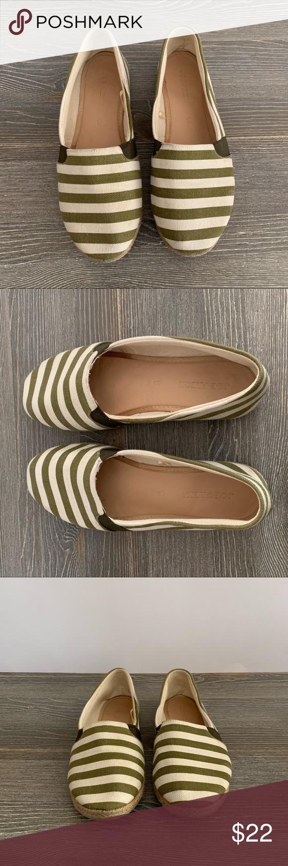 6d381931b935f Green White Stripe Slip On Sneaker - Shoes Size 8 In great shape. Very  clean. Size 8 by Joe Fresh Canvas upper Rubber soles Joe Fresh Shoes Flats    Loafers