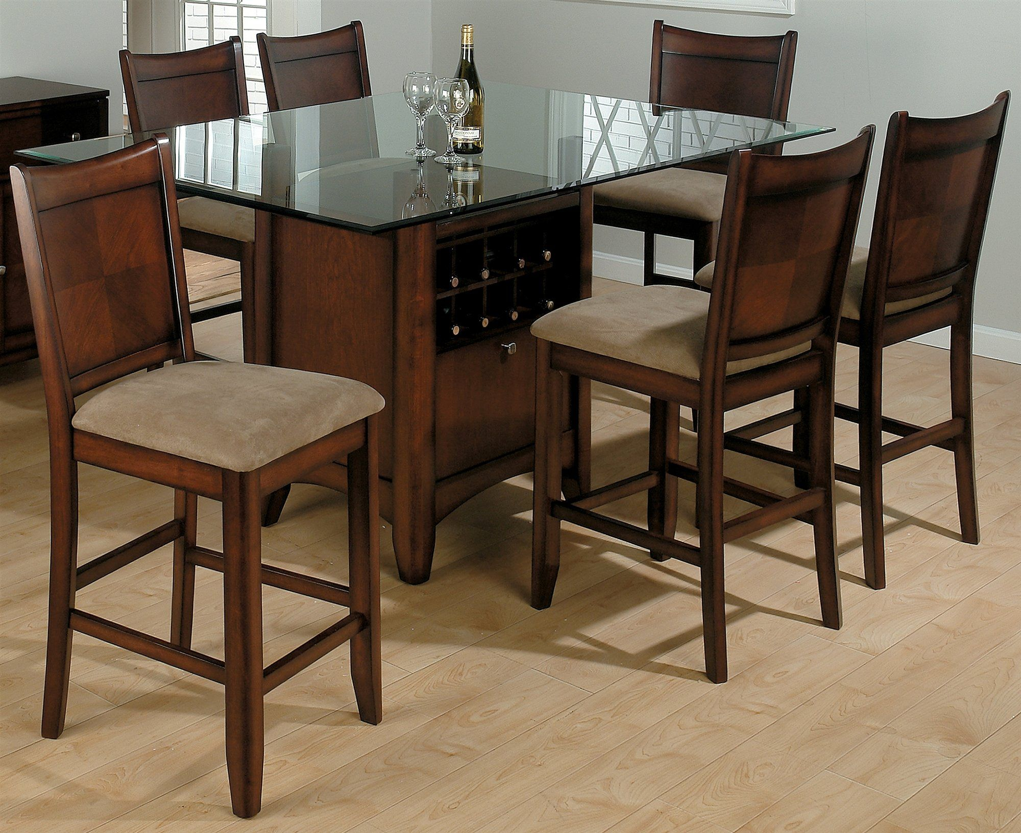 Fancy Wooden Dining Table Design With Square