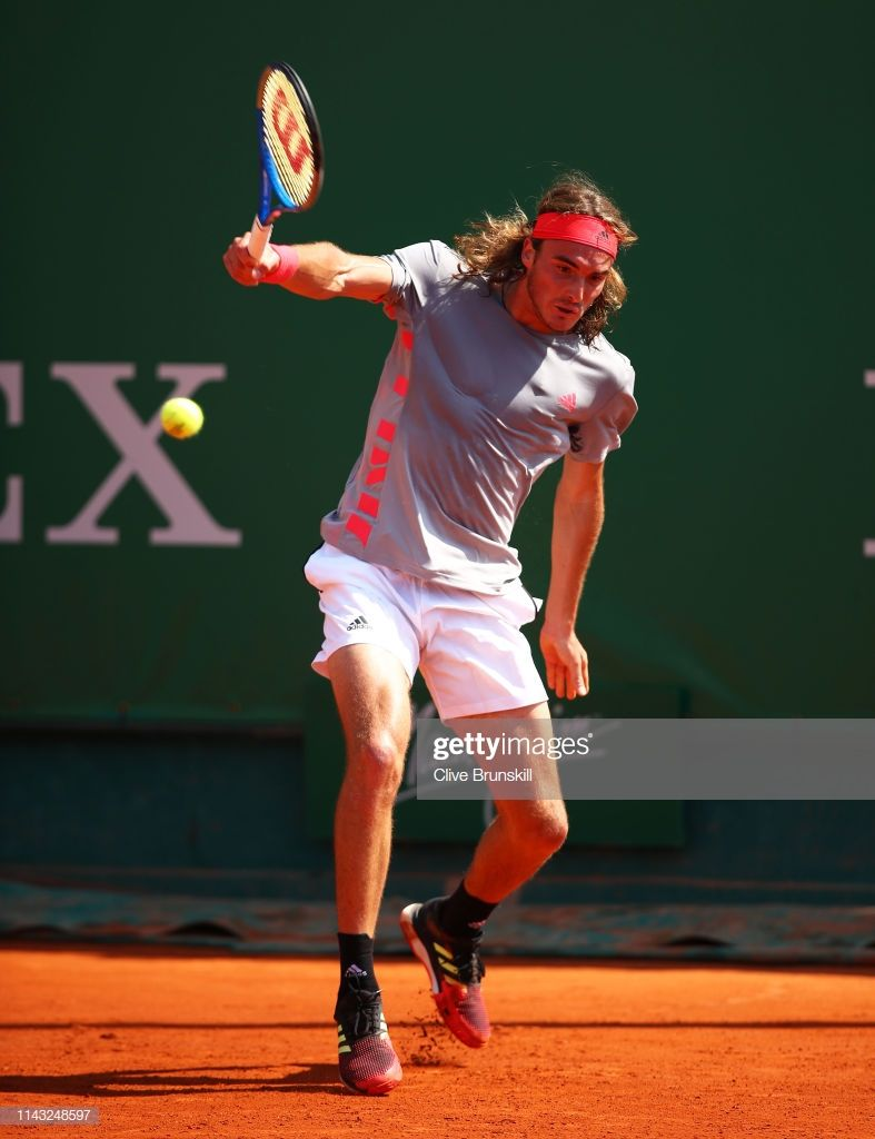 News Photo Stefanos Tsitsipas Of Greece Plays A Backhand Tennis Photos Tennis World Soccer Tennis