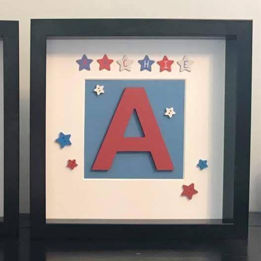 Personalised frame, name frame, boys box frame, frame for boys, boys ...