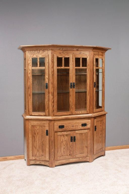 amish 61 canted mission hutch china cabinet in 2019 furniture rh pinterest com