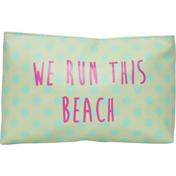 T-shirt & Jeans We Run This Beach Cosmetic Bag found on Polyvore ...
