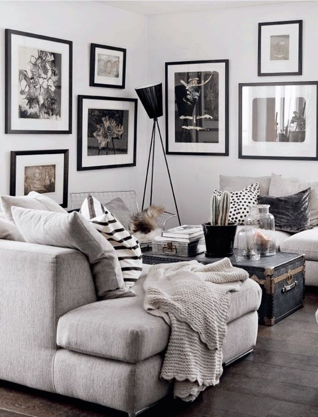 living room color schemes with black furniture%0A Love the beauty and simplicity of a nice black frame