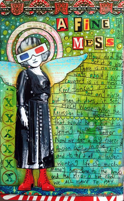 Art Journal – A fine mess by thekathrynwheel. A collage made with images from Tumblefish Studios