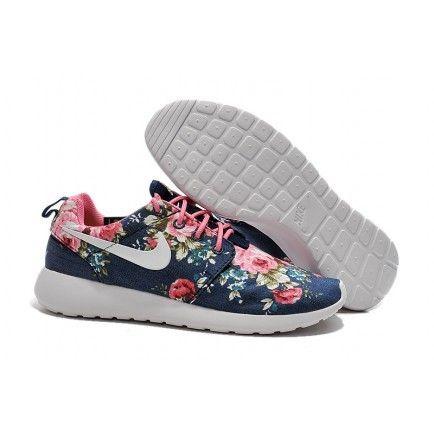 online retailer 50a2a 3413b Nike Roshe Run Painted Midnight Navy Popping Pink White - Roshe Run