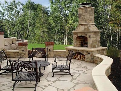 excellent use of hardscaping and masonry... bring in the green ...