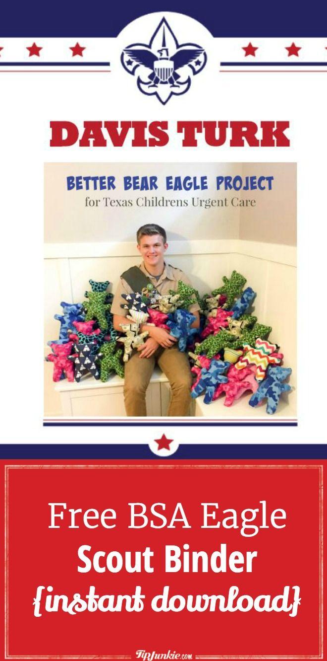 Free BSA Eagle Scout Binder {instant download} Eagle