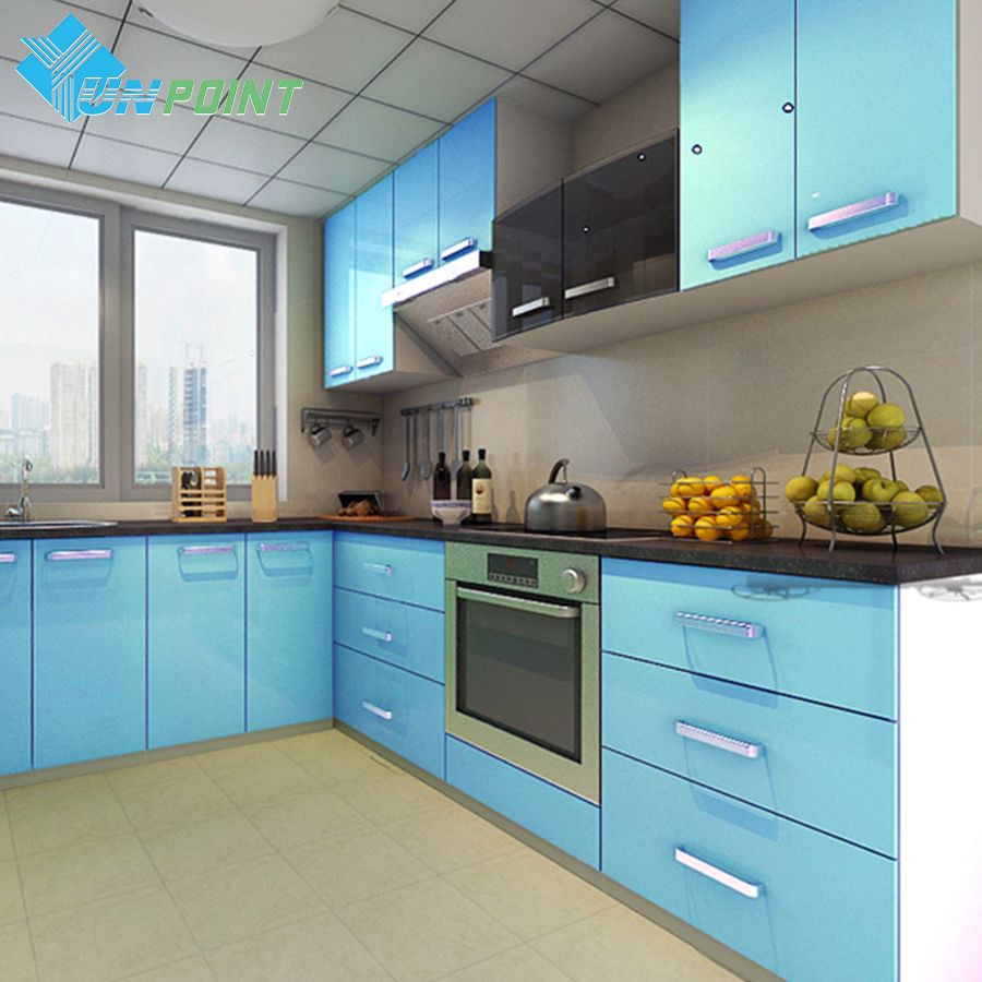 60cmx3m kitchen cabinet renovation stickers blue diy decorative film rh pinterest de