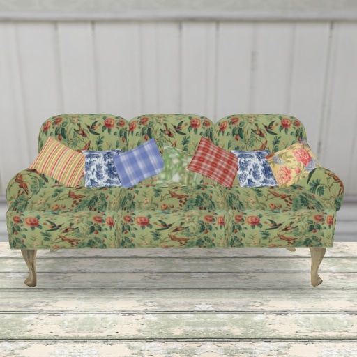shabby chic french provincial green floral couch seating floral rh pinterest com