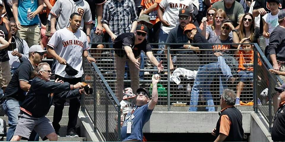 Super Catch by Super Dad on Father's Day @ San Francisco Giants Game.