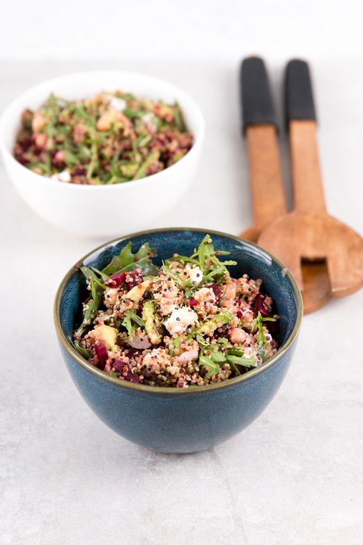 #arugula #Avocado #beets #Foodie #Party #Quinoa #Quinoa Recepten #Salad Quinoa salad with beets, avocado and arugula - Foodie Party