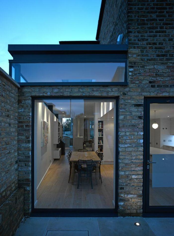 44 tolle Bilder von Glaswand Terrasse!   Ziegelwände ...