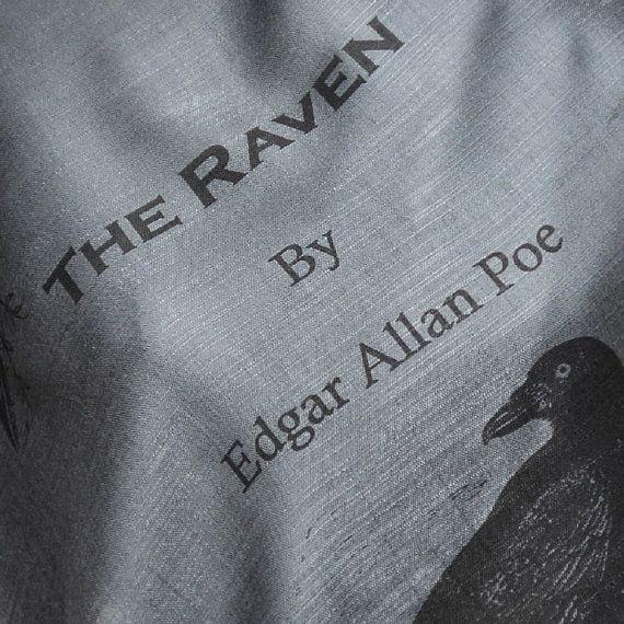 The Raven by Edgar Allan Poe  Shawl Scarf Wrap by UniversalZone