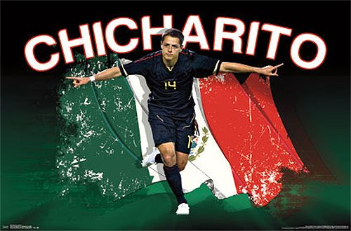 World Cup 2014 · Javier Hernandez Chicharito Bandera Mexico Soccer Action  Poster - Costacos 2013 Mexico Team d041f5847