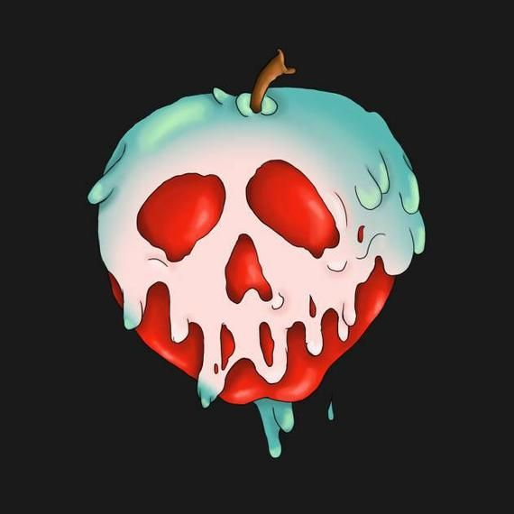 Cross stitch pattern poison apple. Snow white and the