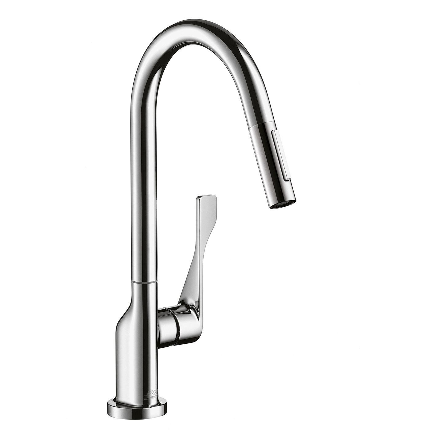 Hansgrohe 39835801 Steel Optik Axor Citterio Pull Down Kitchen Faucet With  Magnetic Docking U0026 Toggle