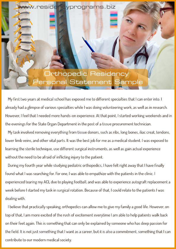 brilliant-orthopedic-residency-personal-statement Residency