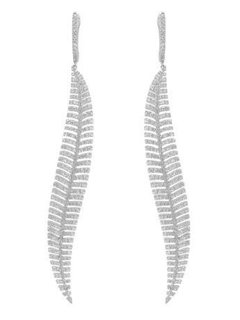 4473038fada Designs From Alexandre Corrot of Djula - diamond feather earrings. Ummm