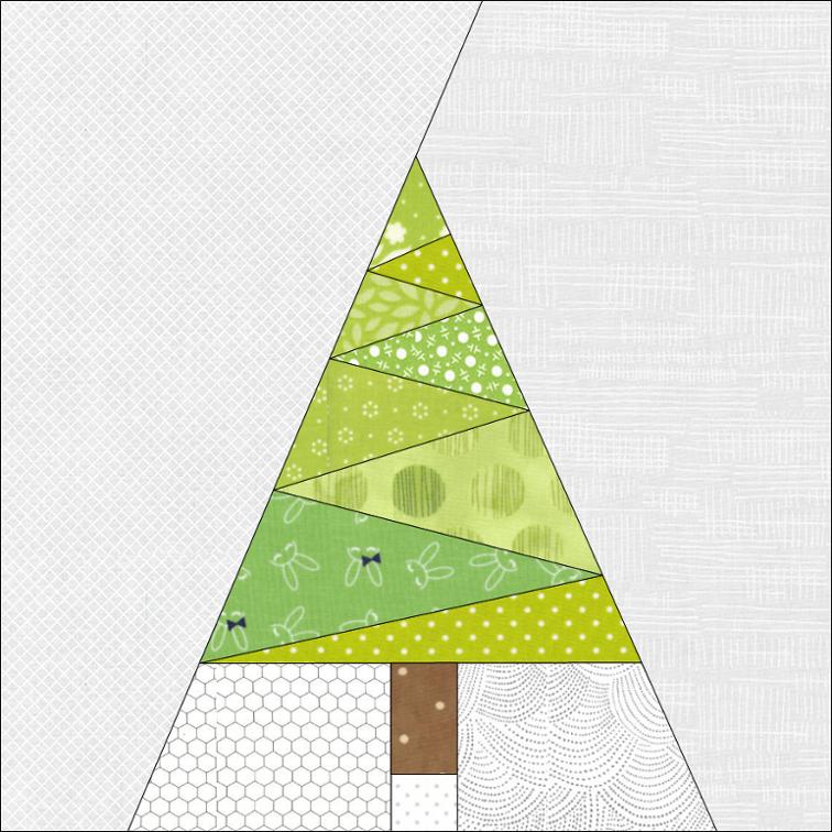 Geometric Christmas Tree Paper Pieced Pdf Pattern Craftsy Tree Quilt Pattern Christmas Tree Quilt Paper Pieced Quilt Patterns