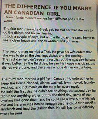 Oml That S What Happens If U Try And Tell Us What To Do Never Ever Do That Or U Can Kiss That Charming Face Of Urs G Canada Funny Canada Jokes