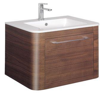 bauhaus celeste vanity unit with basin american walnut rh pinterest com