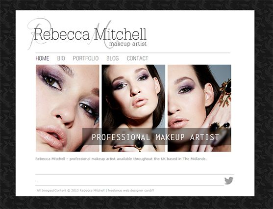 Website Design - Make-up designer website | Joanna Helsdown Web ...