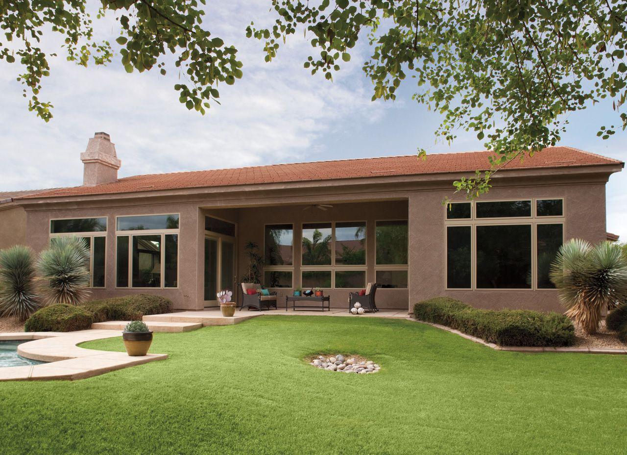 contemporary ranch home pella impervia casement windows contemporary ranch home pella impervia casement windows pella photo gallery