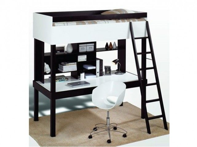 lit mezzanine bureau lit organis pinterest lieux. Black Bedroom Furniture Sets. Home Design Ideas