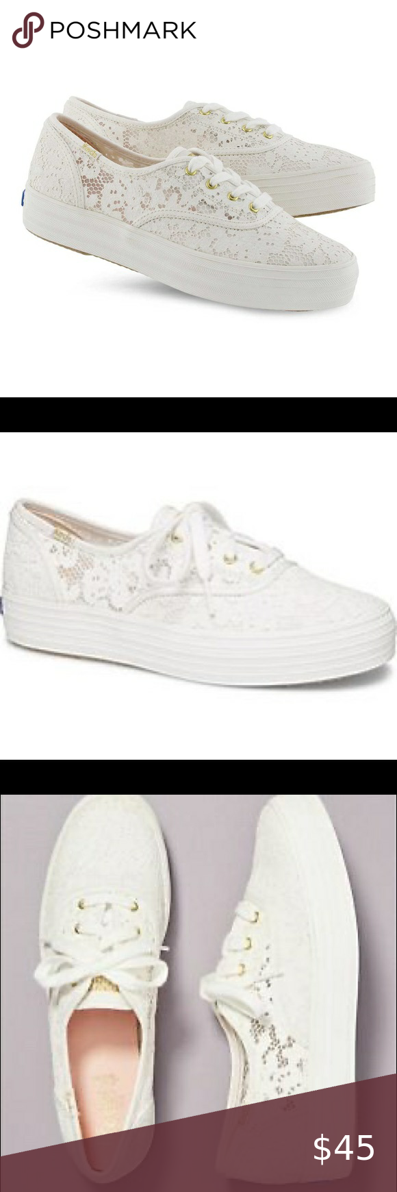 NWT Anthro Keds Triple Painted Crochet