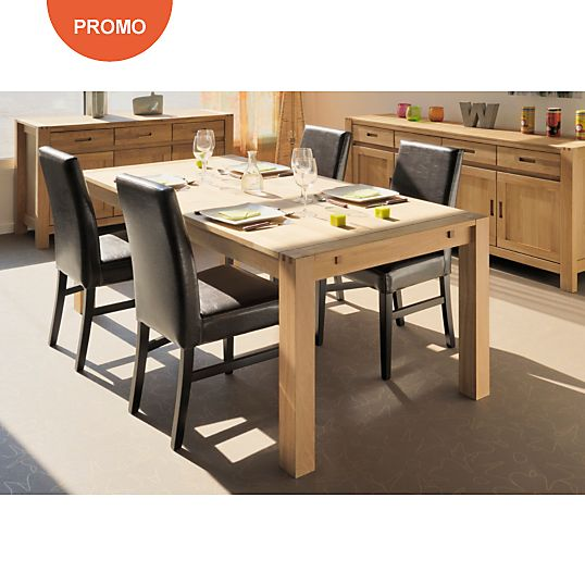 Ensemble Table 4 Chaises Luminescence Table Repas Camif Bon Shopping Com Table A Manger Rectangulaire Table A Manger Extensible Deco Salle A Manger