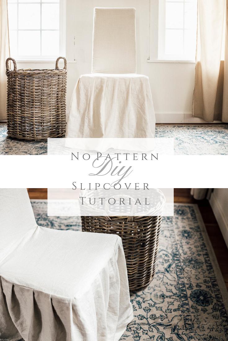 no pattern diy slipcover tutorial farmhouse fabrics rugs rh pinterest com