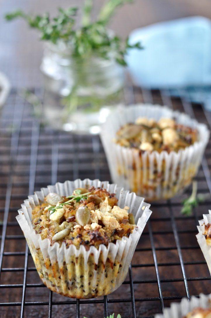 Quinoa, sweet potato & feta bakes (gluten free)