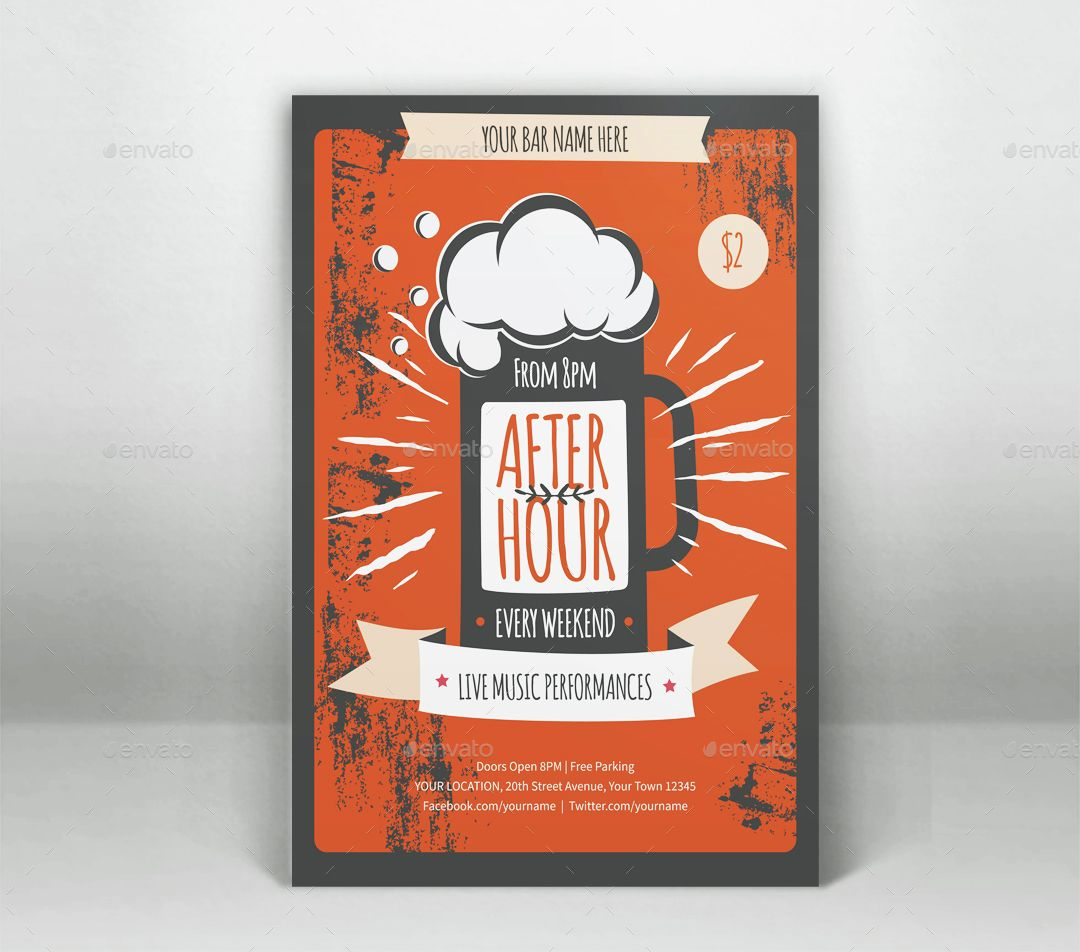 After Hour Flyer Template