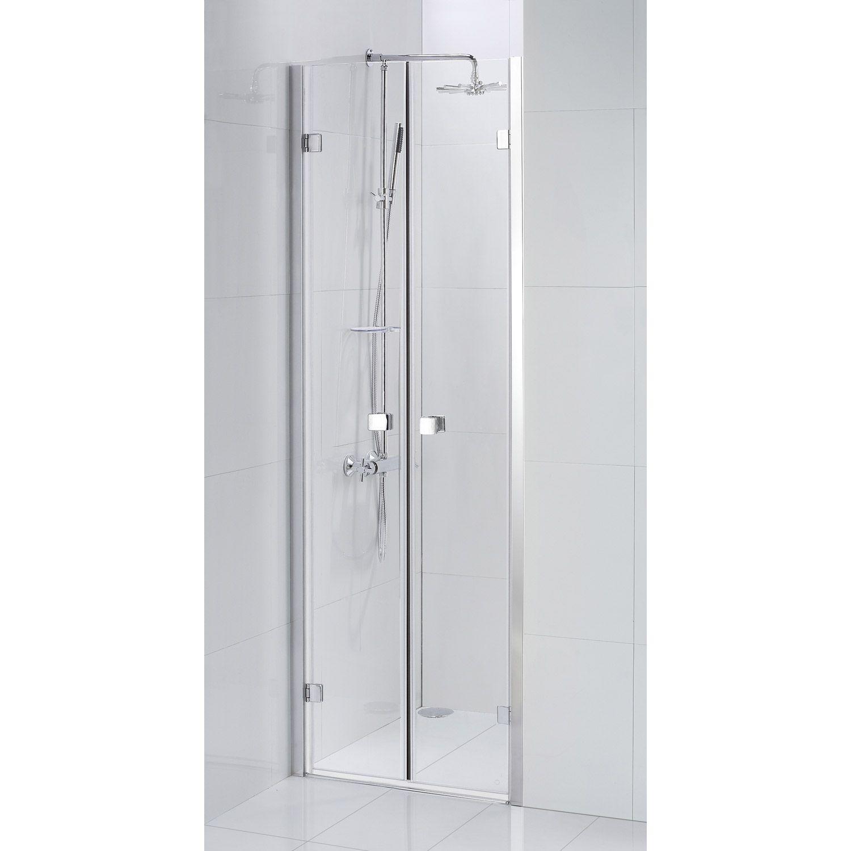 Porte De Douche Battante Sensea Premium 2 Verre Transparent