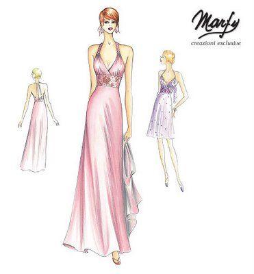 marfy pink dress | Marfy | Pinterest | Abiti, Moda und Modelle