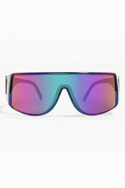 49a8210ffc4 Tronic  Oversized Rainbow Flat Top Sunglasses- Black - 5313-1