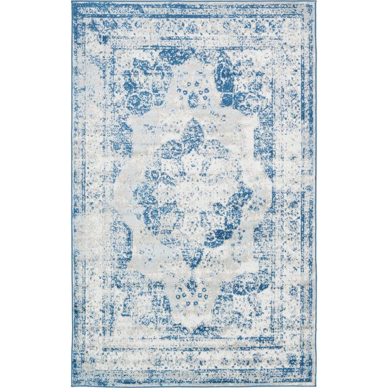 Brandt Tibetan Blue Ivory Beige Area Rug New Casa Decor