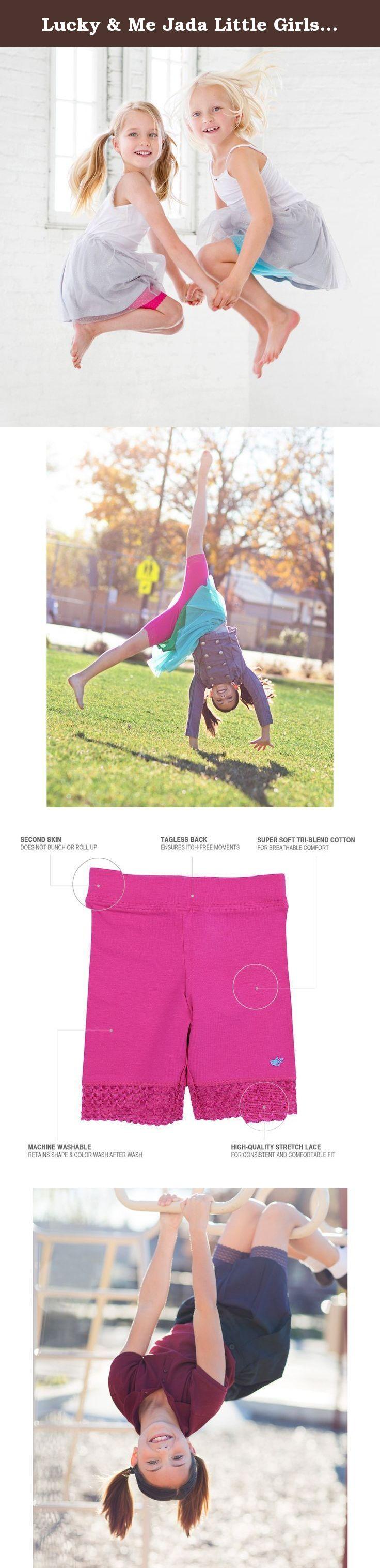 Lace Trim Jada Girls Bike Shorts Tagless Soft Cotton Underwear 3 Pack