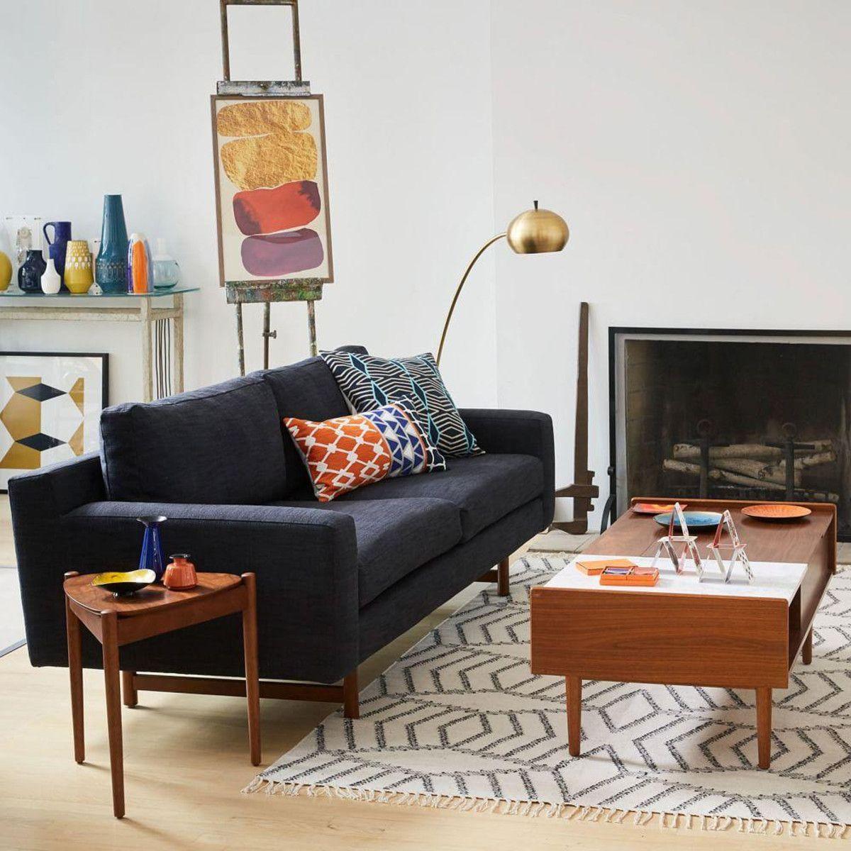 eddy sofa indigo 208 cm west elm uk house of dreams rh pinterest com