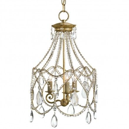 Currey And Company Eloise Chandelier In Dutch Gold Leaf Finish 847 80 Thebellacottage Shabb Chandelier Design Small Chandelier Elegant Floor Lamps